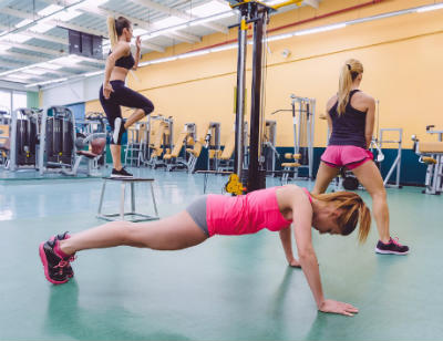 hacer burpees