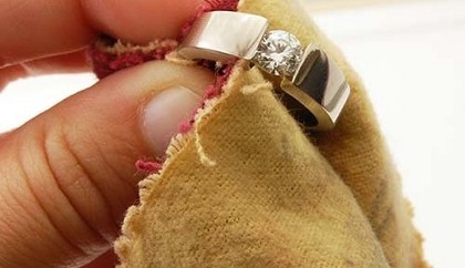 limpiar anillos de plata