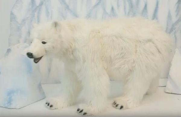 peluche oso polar gigante