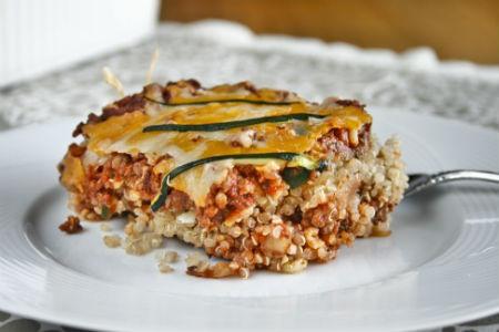 Lasagna de quinoa