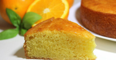 Receta para hacer una torta de naranja