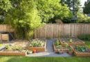 Decoración de jardines con madera