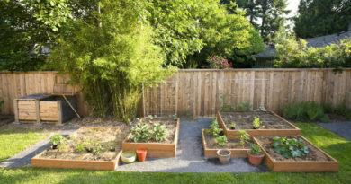 jardines con madera