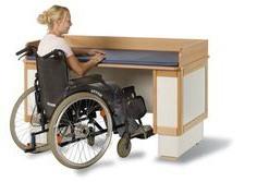 Mesas para personas discapacitadas