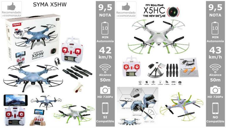 Drones: SYMA X5HW y X5HC