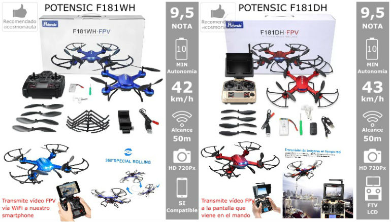 Drones: POTENSIC F181WH y F181DH