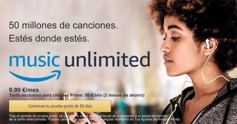 1 mes gratis Amazon Music Unlimited
