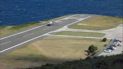 Aeropuerto Juancho Yrauskin en la Isla de Saba Holanda