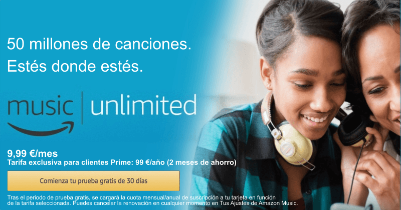 Alternativa spotify Amazon Music Unlimited