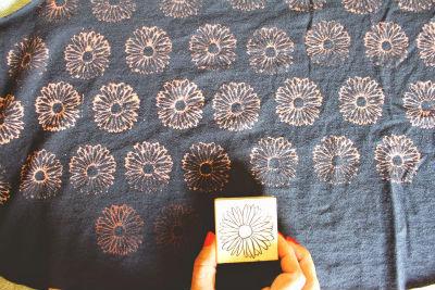 Sellos de caucho textiles