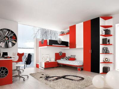 Dormitorio juvenil con mesa de estudios