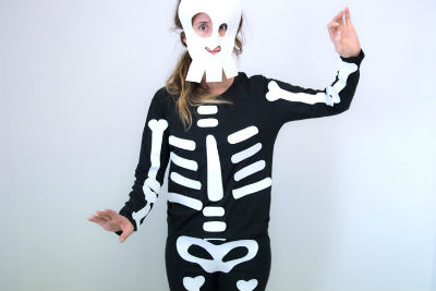 Como hacer un disfraz de esqueleto