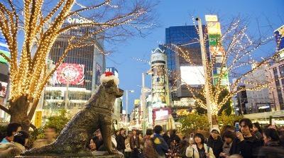 Monumento de Hachiko en Japon