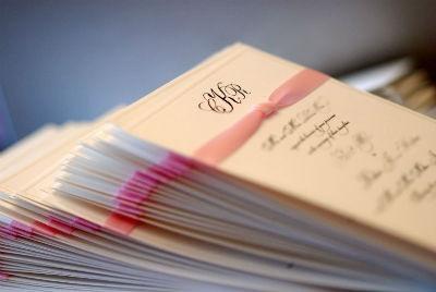 Sobres para invitaciones de boda