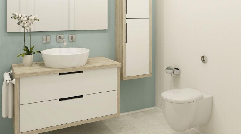 5 ideas para ampliar espacio en un cuarto de ba o peque o for En el cuarto de bano