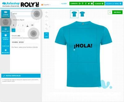 Rafasshop para crear camisetas personalizadas