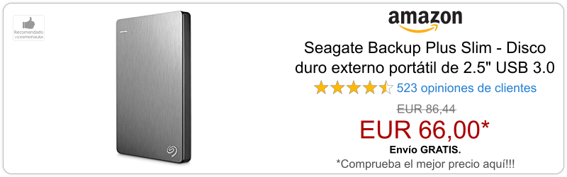 Disco Duro Externo Seagate Backup Plus Slim