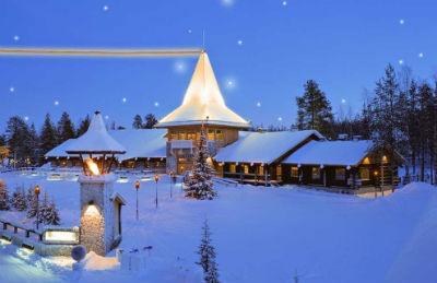 La casita de Papa Noel en el Polo Norte