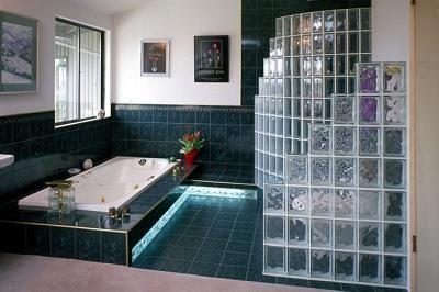 Decoraci n de interiores y exteriores utilizando bloques de vidrio el cosmonauta - Bloques de vidrio para bano ...