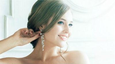 Pendientes de diamantes para boda
