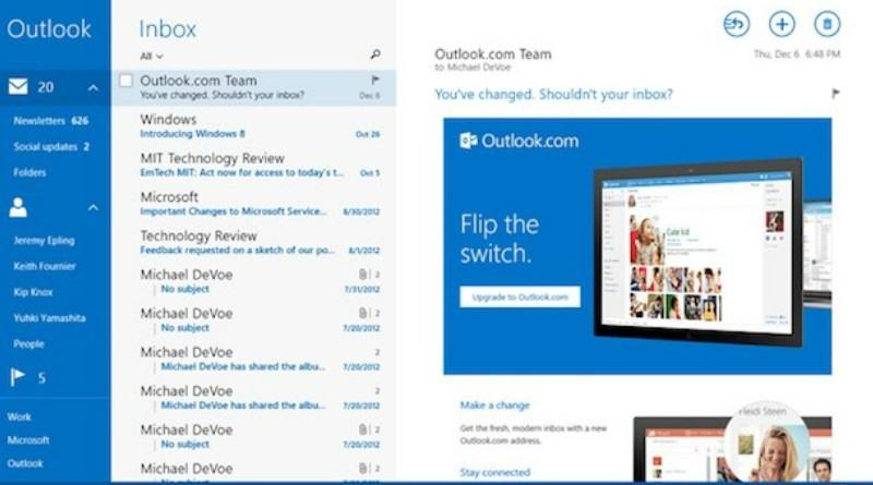 Outlook busca renovarse 2019