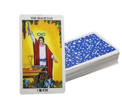 Una baraja de cartas del tarot
