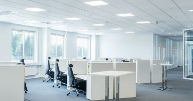 tipo paneles led oficina
