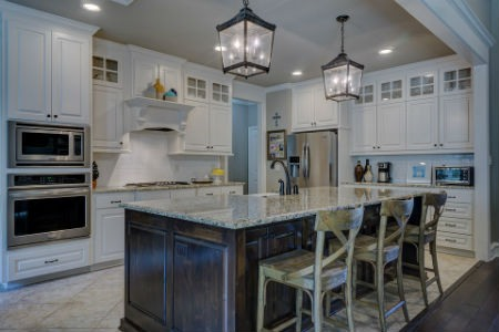 casa blanca residencia cocina