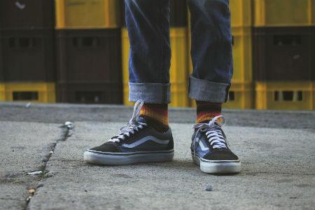 zapatos y calcetines a la moda
