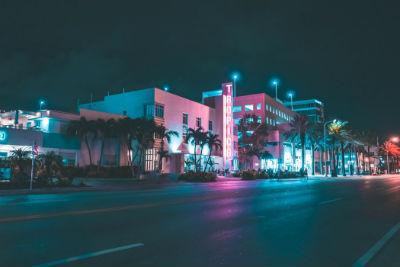 Calles de Miami de noche
