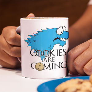 Taza regalo cookies are coming