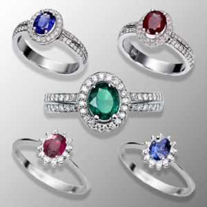 Anillos Compromiso rubies