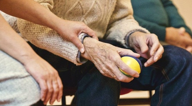 Usuario de una residencia de ancianos